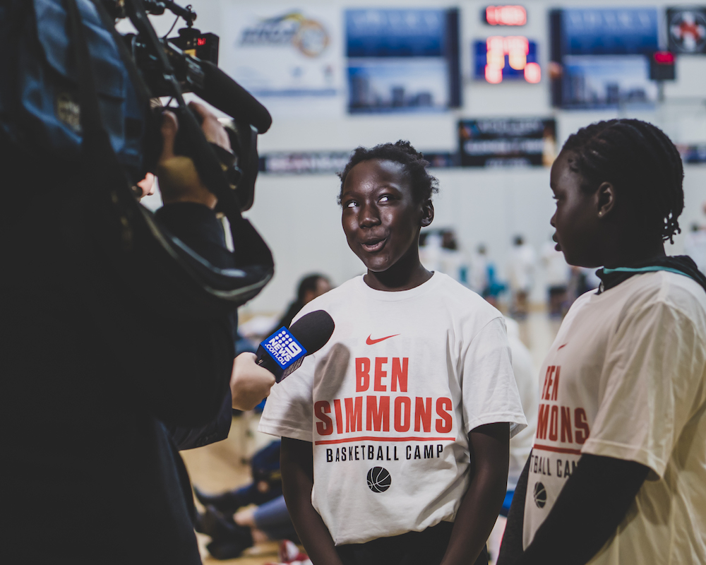 Ben Simmons Gives Back